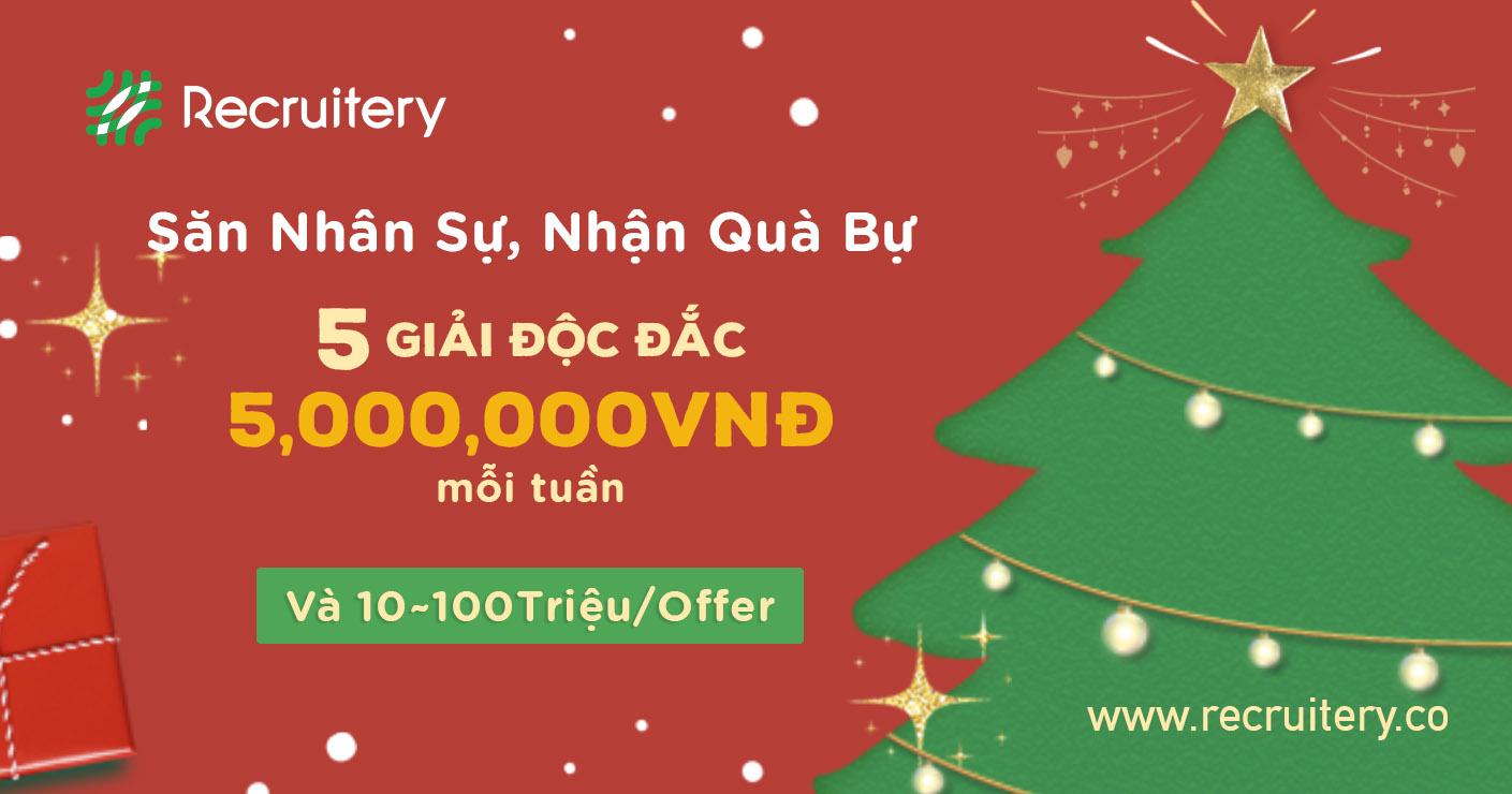 Giới thiệu nhân sự mùa Giáng Sinh, rinh ngay 5,000,000 VND mỗi tuần